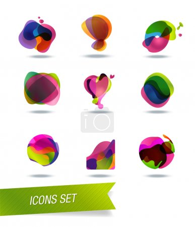 Abstract shape icons