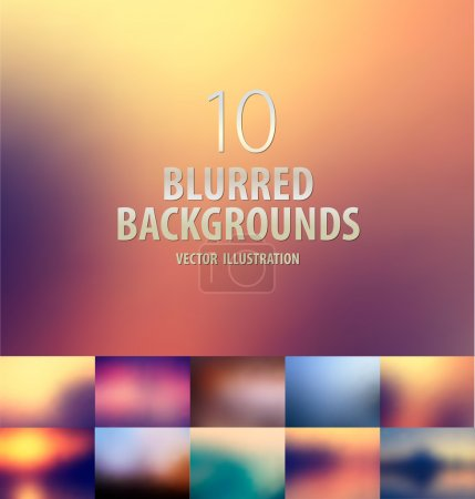 Illustration for Abstract colorful blurred background for webdesign and print - Royalty Free Image