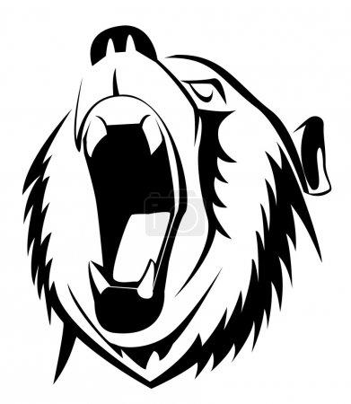 Illustration for Bear roar - Royalty Free Image