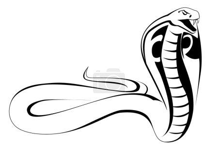 Illustration pour Cobra vecteur - image libre de droit