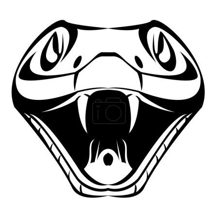 Illustration pour Tête de serpent - image libre de droit