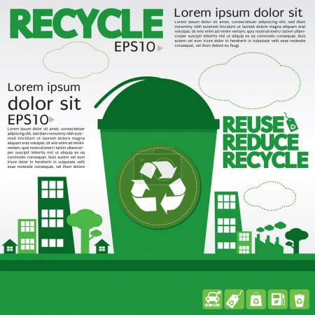 Illustration for Recycle illustration concept vector. - Royalty Free Image