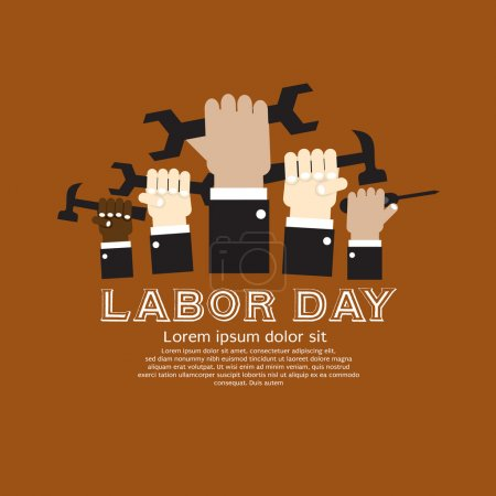 Labor day simply and clean illustration conceptual