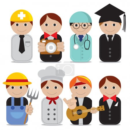 Set of people occupations icons.