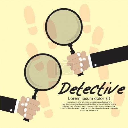 Illustration for Detective Vector Illustration Concept. - Royalty Free Image