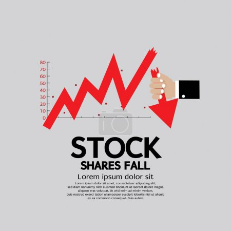 Stock Shares Fall Down
