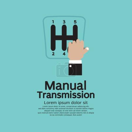 Illustration pour Illustration de vecteur de transmission manuelle - image libre de droit