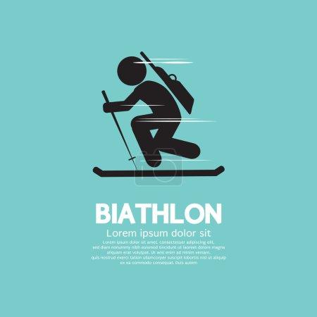 Biathlon Vector Illustration
