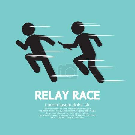 Relay Race Vector Illustration