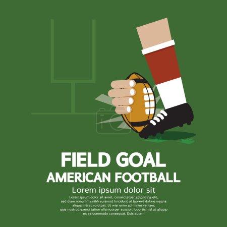 Field Goal American Football Vector Illustration