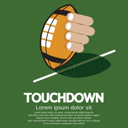 Touch Down American Football Vector Illustration