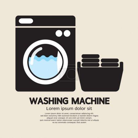 Illustration pour Illustration vectorielle machine à laver - image libre de droit