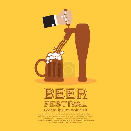 Illustration vectorielle du festival de la bière