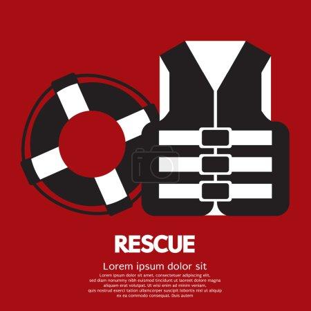 Rescue Item Vector Illustration