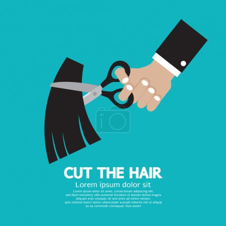 Cut The Hair Vector Illustration...