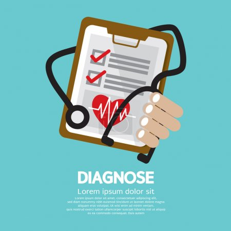 Diagnosis Vector Illustration