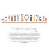 Hairdressing Icons Set