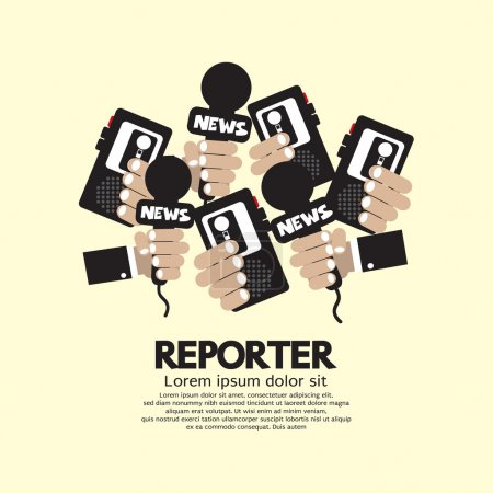 Reporter Concept Vector Illustration