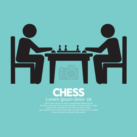Chess Player Sign Vector Illustration