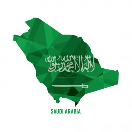 Map of Saudi Arabia Vector Illustration