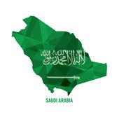 Map of Saudi Arabia Vector Illustration