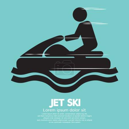 Jet Ski Sport Sign Vector Illustration