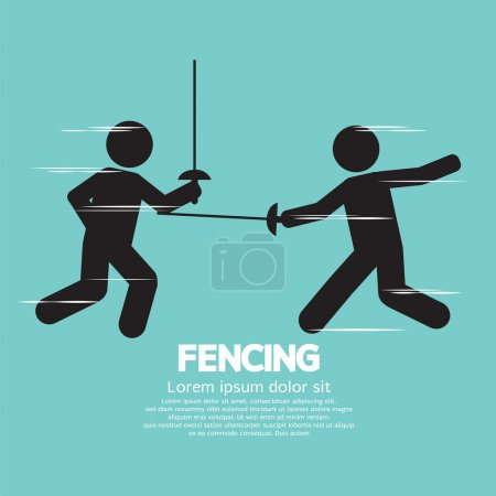 Fencing Sport Sign Vector Illustration