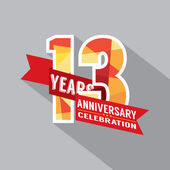 13th Years Anniversary Celebration Design