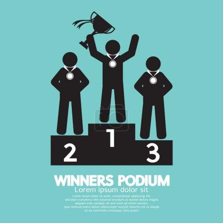 Illustration pour Vainqueurs Symbole Podium Illustration vectorielle - image libre de droit