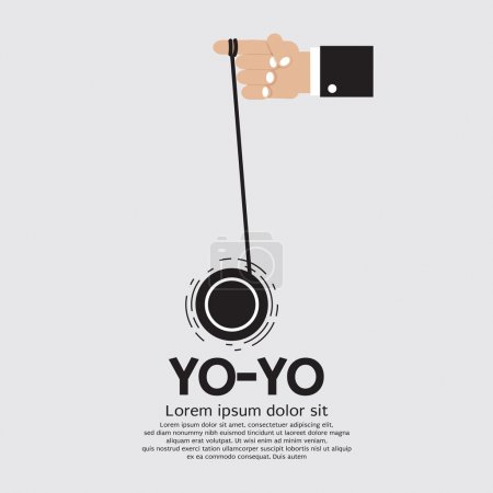 Yo-yo In Hand Vector Illustration