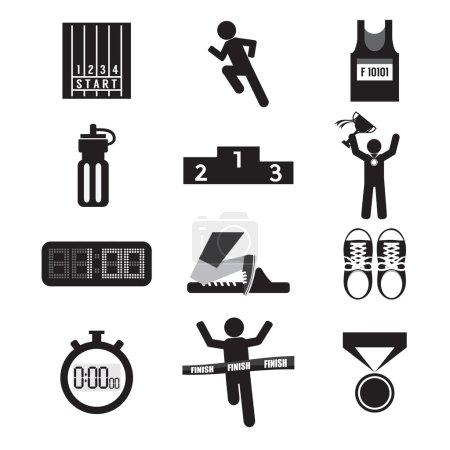 Sport Icon Set Vector Illustration