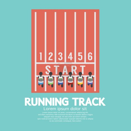 Top View Running Track Vector Illustration
