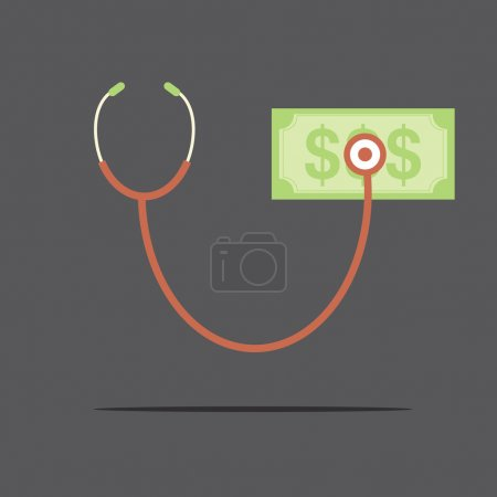 Illustration for Financial Check Concept Vector Illustration - Royalty Free Image