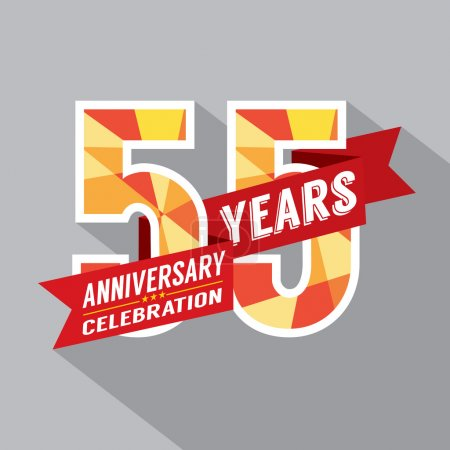 55th Years Anniversary Celebration Design
