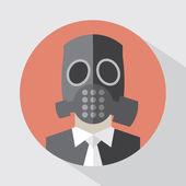 Flat Design Poison Gas Mask Vector Illustration