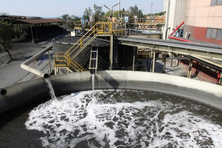 Water treatment plant with dirty sludge