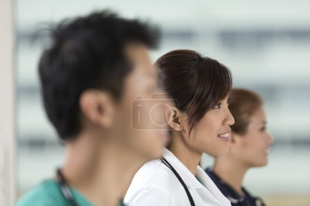 Team of Asian of doctors and nurses.