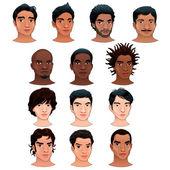 Indian black asian and latino men