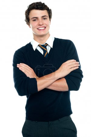 Profile shot of a school going teenager