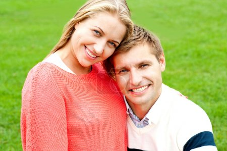 Close up shot of gorgeous young love couple