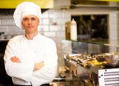 Portrait of confident male chef