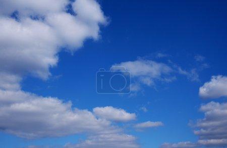 Photo pour Beau ciel bleu avec des nuages. - image libre de droit