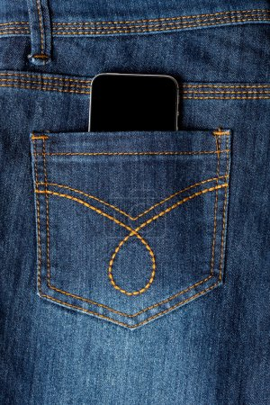 Cellphone in jeans pocket