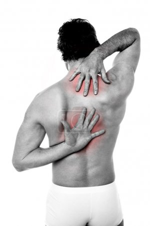 Photo for Young man having backache. - Royalty Free Image
