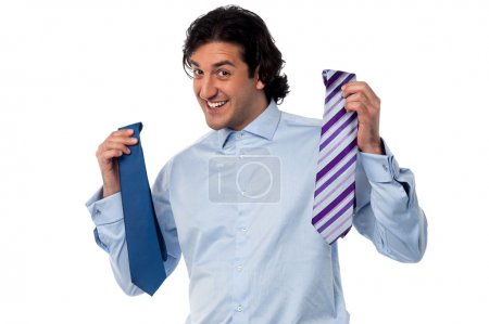 Which tie looks better on me?