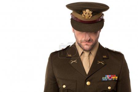 Photo pour Commande de le d'officier de l'armée laisse son équipe vers le bas - image libre de droit