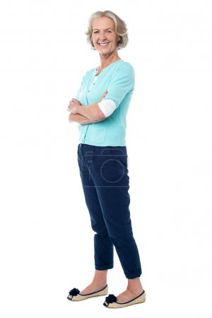 Confident looking fashionable aged woman