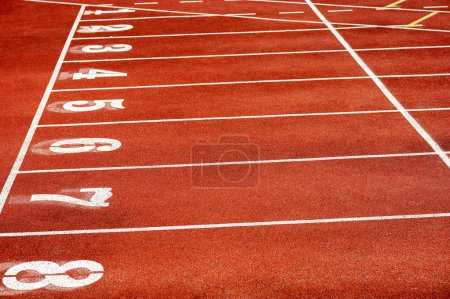 Photo for Numbers on retro sport running track - Royalty Free Image