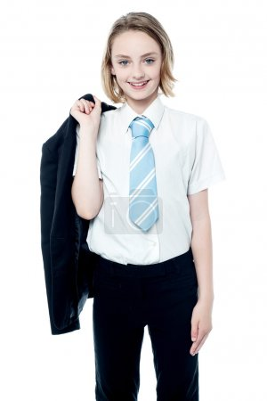 Young attractive business girl