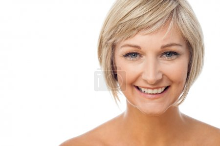 Portrait of beautiful smiling lady